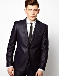 Vito Suit Jacket With Sheen Blue