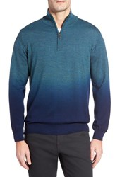 Bugatchi Men's Ombre Quarter Zip Sweater Cypress