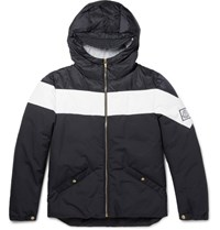 Moncler Gamme Bleu Striped Shell Jacket Navy