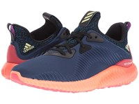 Adidas Alpha Bounce Mineral Blue Ice Yellow Sun Glow Women's Running Shoes Navy
