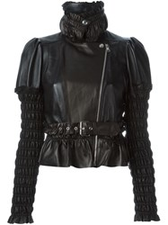 Alexander Mcqueen Ruched Panel Jacket Black