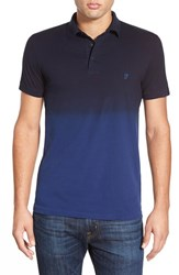 Men's French Connection 'Wembley' Slim Fit Dip Dye Polo Blue Depths Marine Blue