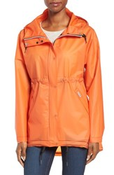 Hunter Women's 'Original Smock' Hooded Drawstring Waterproof Jacket Orange