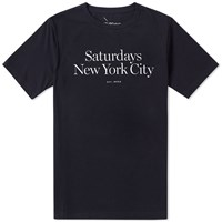 Saturdays Surf Nyc Miller Standard Tee Black
