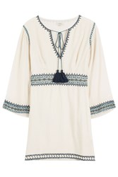 Talitha Embroidered Tunic Beige