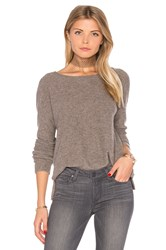 James Perse Cashmere Crop Sweater Gray