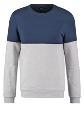 Your Turn Sweatshirt Mottled Light Grey Dark Blue