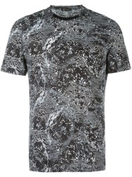 Versace Constellations Pattern T Shirt Black
