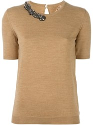 N 21 No21 Knitted T Shirt Nude And Neutrals
