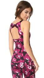 Beyond Yoga Kate Spade New York Cinched Bow Tank Romantic Floral Print
