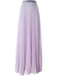 Christopher Kane Pleated Maxi Skirt Pink And Purple