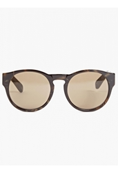 Dries Van Noten Men's Graphic Tortoiseshell Keyhole Sunglasses