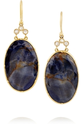 Brooke Gregson 18 Karat Gold Sapphire And Diamond Earrings