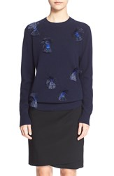 3.1 Phillip Lim Embellished Crewneck Sweater Navy