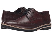 Ted Baker Archerr 2 Dark Red Leather Men's Lace Up Wing Tip Shoes