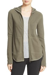 Atm Anthony Thomas Melillo Women's Front Zip Hoodie Military