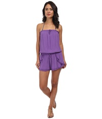 Seafolly Sherbet Playsuit Cover Up African Violet Women's Swimsuits One Piece Purple
