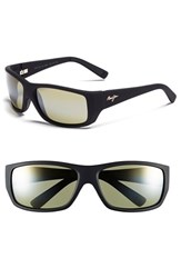 Men's Maui Jim 'Wassup Polarizedplus2' 61Mm Polarized Sunglasses Matte Black Maui Ht