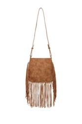 Shiraleah Rousseau Vegan Leather Fringe Crossbody Beige