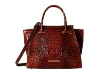 Brahmin Priscilla Satchel Pecan Satchel Handbags Brown