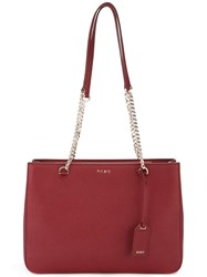 Dkny Chain Handle Tote Red