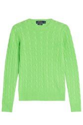 Polo Ralph Lauren Cashmere Cable Knit Pullover Green