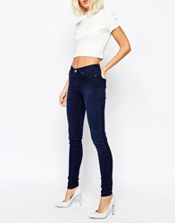 Weekday Body Super Stretch Skinny Mid Wash Denim Jean Midwashblue