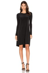Norma Kamali Long Sleeve Swing Dress Black