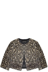 Giambattista Valli Leopard Alpaca Jacket Animal