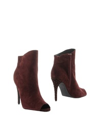 Bibi Lou Ankle Boots Maroon