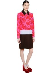 Mary Katrantzou Devore Jacquard And Wool Coat