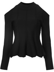 Jonathan Simkhai Cut Off Shoulders Blouse Black