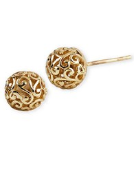 Lord And Taylor 18 Kt Gold Over Sterling Silver Lace Ball Earrings