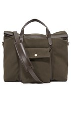 Mismo Soft Work Tote Pine Green Dark Brown