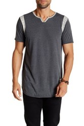 Kinetix Maldives Slub Notch Neck Tee Black