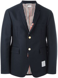 Thom Browne Two Button Blazer Blue
