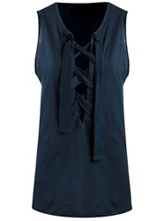 Andrea Bogosian Sleeveless Blouse Blue