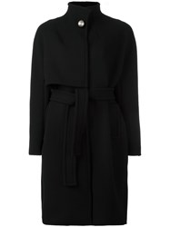 Gianluca Capannolo Oversized Belted Coat Black