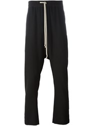 Rick Owens Drop Crotch Track Pants Black