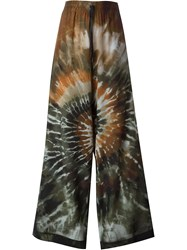 Valentino Tie Dyed Palazzo Pants Multicolour