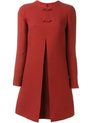 Valentino Bow Detail A Line Dress Red