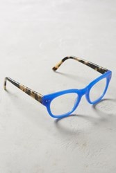 Anthropologie Cary Square Reading Glasses Blue