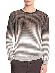 Vince Cotton And Cashmere Sweater Heather White