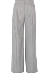 Karl Lagerfeld Flannel Wide Leg Pants Light Gray