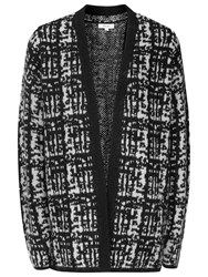 Reiss Nico Textured Cardigan Off White Black