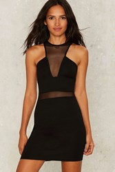 Mesh Is More Mini Dress Black