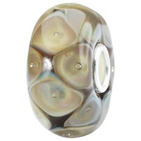 Trollbeads Sterling Silver Nature Bead Charm Brown