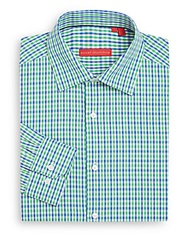 Report Collection Regular Fit Micro Check Cotton Dress Shirt