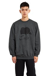 Fucking Awesome Embrace Crewneck Sweatshirt Heather Grey
