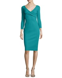 La Petite Robe Di Chiara Boni Melly Overlap Sheath Dress Emerald Green